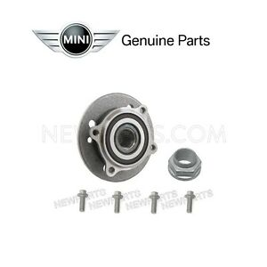 Front Set Of Axle Bearing Hub 4 Bolts Axle Nut Kit Genuine For Mini Cooper
