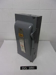 Ite 240 Volt 100 Amp Fused Disconnect Safety Switch W contacts dis3199