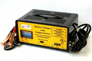 Auto 2 10 55 Amp Battery Charger W Engine Starter Boost 4 Car Rv Boat Motorcycle
