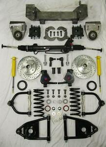 1949 1954 Chevy Car Mustang Ii Bolt On Power Front End Suspension Kit 2 Drop