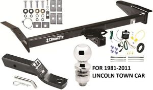 1981 2011 Lincoln Town Car Complete Trailer Hitch Package W Wiring Kit Class 3