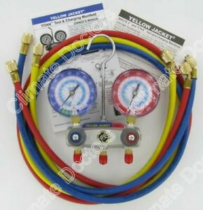 Yellow Jacket 49887 Titan 2 v Manifold Gauges W hoses