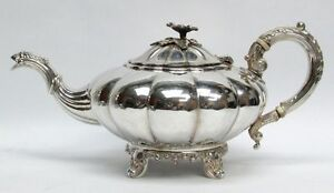 Classic English 1829 Style Birks Canada Sterling Silver Tea Pot