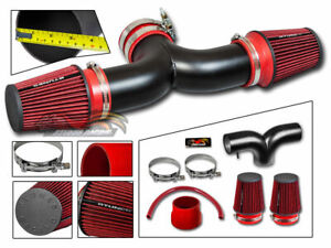 Matte Black Silicone Air Intake Dual Twin Filter For 04 09 Durango 4 7l V8