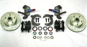 Mustang Ii 2 Front Disc Brake Kit With 11 Plain Rotors Ford 2 Drop Spindles
