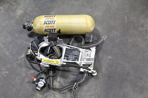 Scott 4 5 Air Pack Harness Scba With Tank And Mask