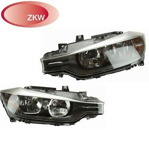 For Bmw F30 320i 328i Pair Set Of Left Right Headlights Assembly Oem Zkw