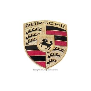 Hood Logo Sign Emblem Badge For Porsche 99355921100 Cayenne 911 Boxster Cayman