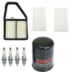 For Honda Civic 01 05 Kit Opparts Air Bosch Engine Oil Cabin Air Filters