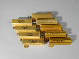 Mixed Lot Of 9 Dale Power Resistor 50w 30w New
