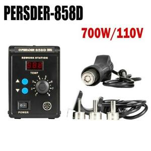 858 110v Hot Air Gun Smd Electric Rework Soldering Station Desoldering Tools Kit