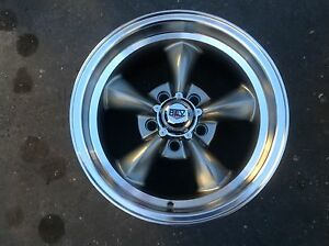 4 15x7s Or 8s Gray New Rev Rally Wheels For Ford Mustang Ranchero Fairlane