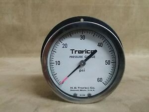 Trerice Pressure Gauge 0 60 Psi Industrial Size Big