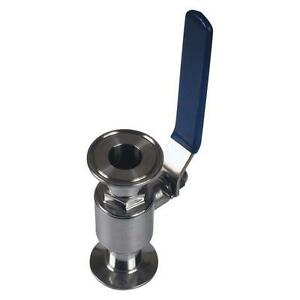 Sanitary Ball Valve Tri Clamp clover 1 Inch Ss304 2 Pack