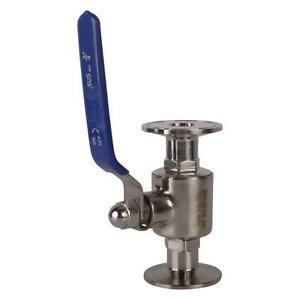 Sanitary Ball Valve Tri Clamp clover 3 4 Inch Ss304 2 Pack