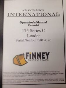 Ih International Dresser 175c Crawler Loader Operators Maintenance Manual Book H
