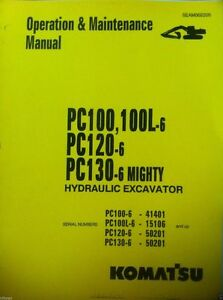 Komatsu Pc100 Pc100l 6 Pc120 6 Hydraulic Excavator Operation Maintenance Manual