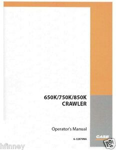 Case 650k 750k 850k Crawler Dozer Plain Operation Maintenance Manual 6 32870na