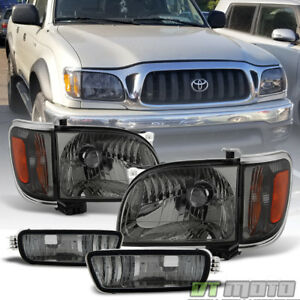 For Smoked 2001 2004 Toyota Tacoma Headlights Corner Lamps Bumper Lights 01 04
