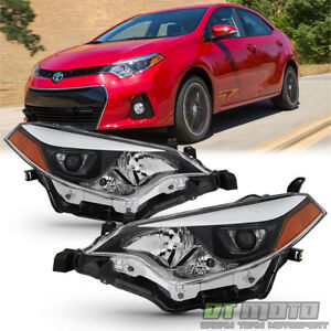 For 2014 2016 Toyota Corolla Led Headlights Headlamp Aftermarket Left right