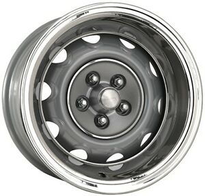 4 15x7 Mopar Rally Wheels Caps Rings 4 1 2 Bolt Pattern Charger Cuda