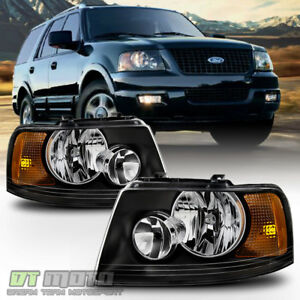 Blk 2003 2006 Ford Expedition Headlights Headlamps Aftermarket 03 06 Left Right