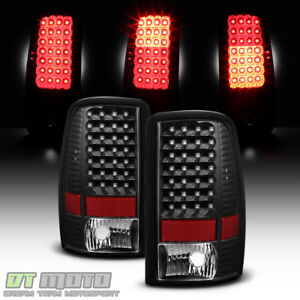 Black 2000 2006 Chevy Suburban 1500 2500 Tahoe Yukon Led Tail Lights Brake Lamps