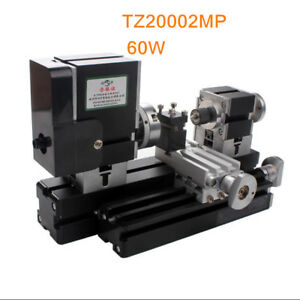 60w High Power Mini Metal Lathe Soft Metalworking Woodworking Diy Model Gift