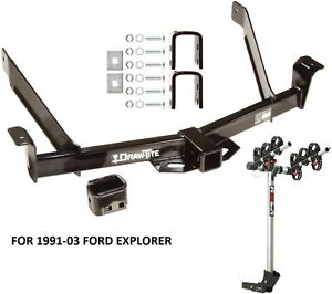 1991 03 Ford Explorer Trailer Hitch Complete Rola 3 bike Rack Carrier Package