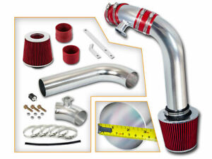 Red Cold Air Induction Intake Kit Filter Bmw 92 98 E36 3 Series 323 323i 323is