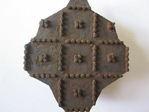 Vintage Wood Traditional Hand Carved Wooden Textile Fabric Wallpaper Print Block