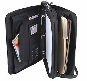 Padfolio 3 ring Binders Folder File Divider Organizer Planner W Smart Handle