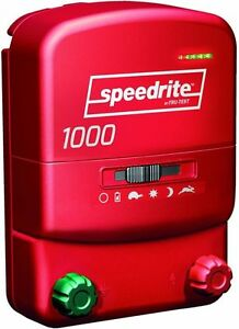 Speedrite 1000 Ac Or Dc Dual Powered Electric Fence Charger 10m 40a Free Tester