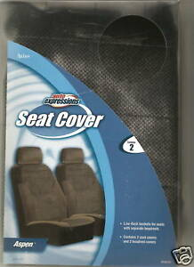 2 Jeep Chevy Bucket Seat Covers Car Truck Aspen Black