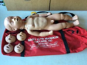 Simulaids Kevin Infant Baby Cpr Full Body Manikin Caucasian