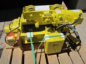 Yale Bew 5 54rt14s2 Wire Rope Hoist motorized Trolley Bew 554rt14s2 1 2 Ton