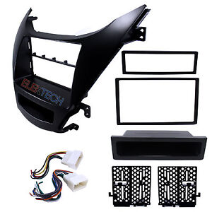 Radio Replacement Dash Mount Kit 1 Or 2 din W pocket Harness For Hyundai