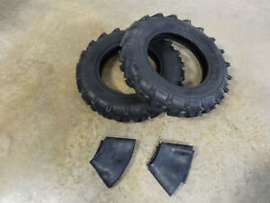 Two New 6 00 16 Bkt As 504 Farm Lug Traction Implement Tires And Tubes 6 Ply I 3