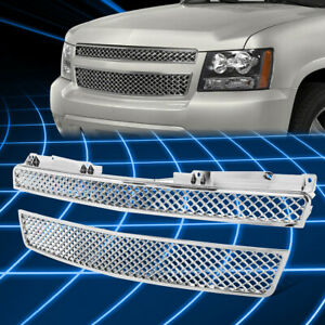 Chrome Abs Bumper Protect Grille Guard For 2007 2012 Tahoe avalanche suburban