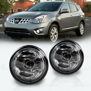 2pcs Fog Light Assembly Replacement For 2011 2014 Nissan Rogue Clear Glass Lens