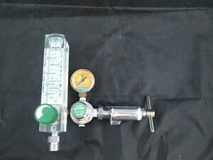 Allied Timeter 50 Psi Oxygen Flowmeter Tl0 15 W Gauge Up To 4 000 Psi