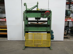 50 Ton Hydraulic 115v H Frame Press 45 Between Rails 12 Stroke