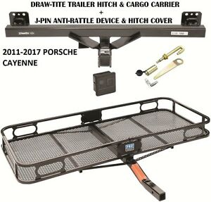 2011 2017 Porsche Cayenne Trailer Hitch Cargo Basket Carrier Silent Pin Lock