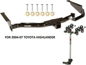 Trailer Hitch For 04 07 Toyota Highlander Complete Rola 3 bike Rack Carrier