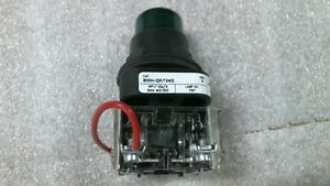 Allen Bradley 800h qrt24g Series F Green Pilot Light Push Button