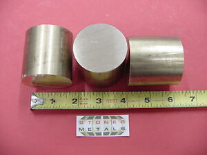 3 Pieces 2 C360 Brass Round Rod 2 Long Solid H02 Lathe Bar Stock 2 00 Diameter
