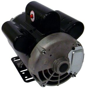 Electric Air Compressor Motor 5 Rhp 230 volt 22 amp Manual Overload Protection