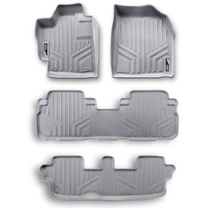 Maxfloormat Floor Mats For Honda Pilot 2009 2015 3 Row Set Grey