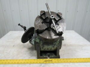 Kempsmith Horizontal vertical Rotary Indexing Table W 8 4 Jaw Chuck