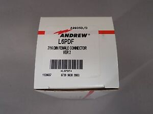 Andrew L6pdf 7 16 Din Female Connector Ver 2 New
